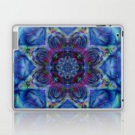 Karlion- Blue Art- Kaleidescopes- Wall Art- Pattern Art- Abstract Art- Fractal Art- Spirograph Laptop & iPad Skin