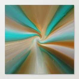Blue green and brown art Canvas Print