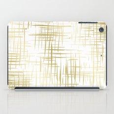 Crosshatch Gold iPad Case