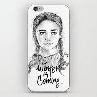 arya iPhone & iPod Skins featuring Arya stark by Nicolaine
