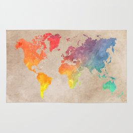World Map Maps #map #maps #world Rug