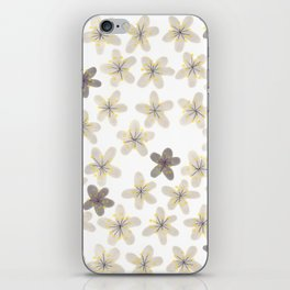 Grey and yellow flowers iPhone Skin