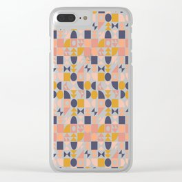Modern Shapes Geometric Pattern Clear iPhone Case