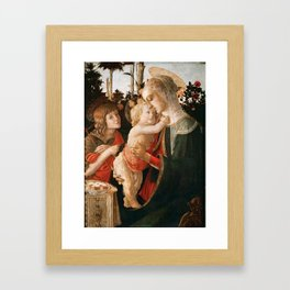 "Sandro Botticelli ""Madonna and Child with St. John the Baptist"" Framed Art Print"