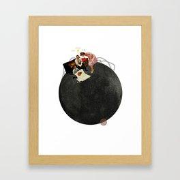 Life on Earth    Collage   White Framed Art Print