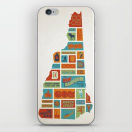 New Hampshire quilt-style screenprint iPhone Skin