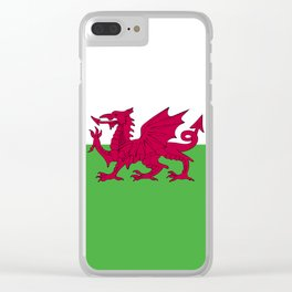 Wales flag emblem Clear iPhone Case