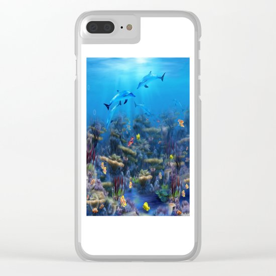 Lost Ocean Clear iPhone Case