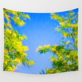 Swirly Trees Wall Tapestry