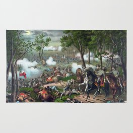 Battle of Chancellorsville - Death Of Stonewall Rug