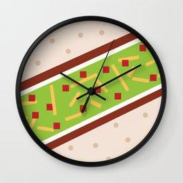 Minimalistic Mexican Taco Wall Clock