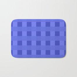 Retro Blue Squares Bath Mat