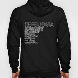 NEFELIBATA [White Letters] Hoody