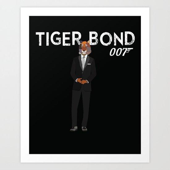 Tiger Bond Art Print