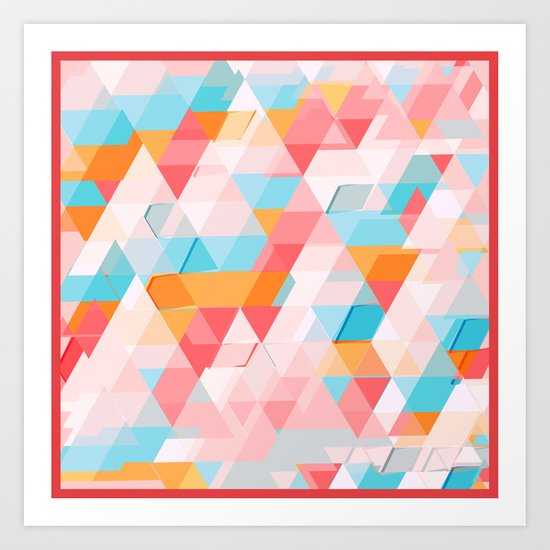 Crumbling triangles Art Print