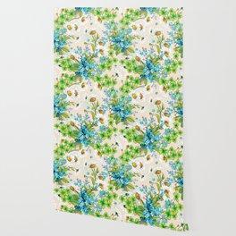 Adorable white sunflower texture Wallpaper