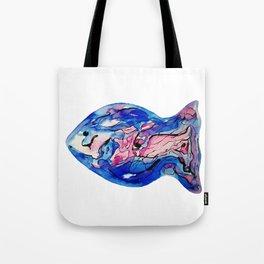 Fish Watercolor III Tote Bag