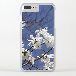 Star filled sky (Star Magnolia flowers!)      Edit Clear iPhone Case