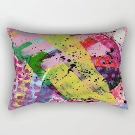 Nordic art, abstract print, abstract painting, abstract art print, abstract wall art, pink and blue Rectangular Pillow