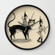 The Capture of the Beast Wall Clock