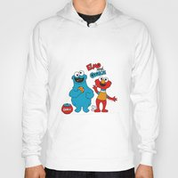 elmo Hoodies featuring Elmo & Cookie Fan Art by gabriela