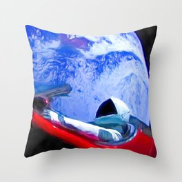 Tesla's Starman Throw Pillow