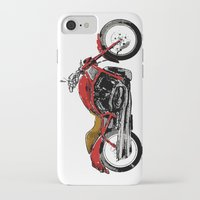 motorcycle iPhone & iPod Cases featuring Motorcycle by magnez2