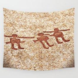 Pictogram at Vitlycke, Sweden 8 Wall Tapestry
