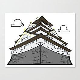 Icon-O-Tecture | Osaka Castle Canvas Print
