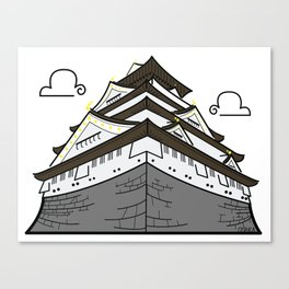 Icon-O-Tecture | Osaka Castle Canvas Print
