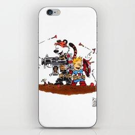 Calvin and Hobbes Inspired Hero Parody iPhone Skin