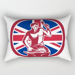 British Blacksmith Union Jack Flag Icon Rectangular Pillow