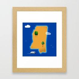 Mississippi Island Framed Art Print