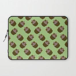 Milk Chocolate Pixel Cupcake Pattern Laptop Sleeve