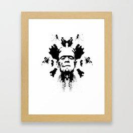 Rorschach test Framed Art Print