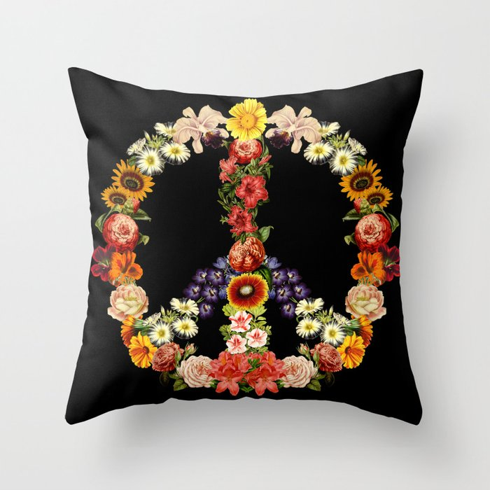 Flower Power Deko-Kissen