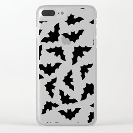 Seamless pattern with flying bats.  Clear iPhone Case