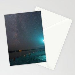 Milky Way over the Cornucopia Pier Navigational Light Stationery Cards