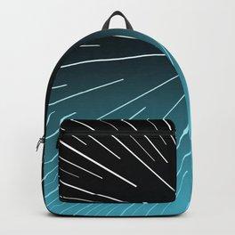 Circular Linear Aqua Backpack