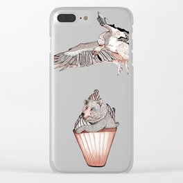 The Bear in the Muffin Clear iPhone Case