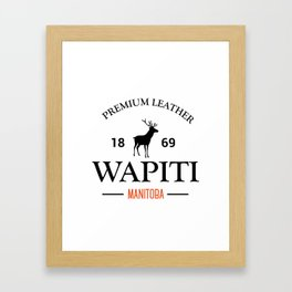 Manitoba Premium Leather Framed Art Print
