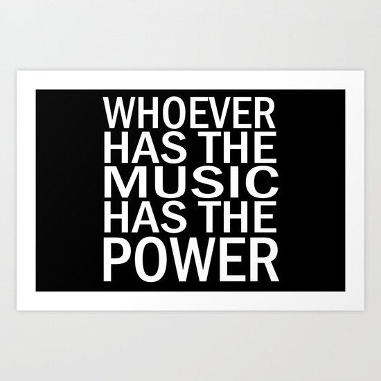 The Power of Music Art Print