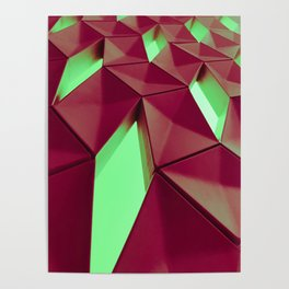 Dark Red & Kryptonite by Brian Vegas Poster