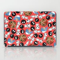 studio ghibli iPad Cases featuring Ghibli Pattern by pkarnold + The Cult Print Shop