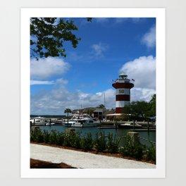 Harbour Town Light Art Print