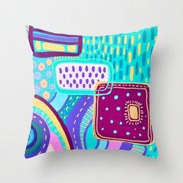Pop Abstract Throw Pillow