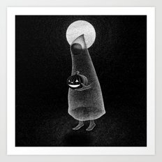 Drawlloween 2014: Ghost Art Print