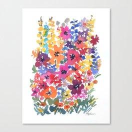 Bright Summer Garden Canvas Print