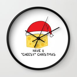 Have a cheesy Christmas Wall Clock