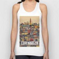 copenhagen Tank Tops featuring Copenhagen Facades by Siddharth Dasari